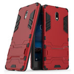 Slim Armour Tough Shockproof Case & Kickstand for Nokia 3 - Red